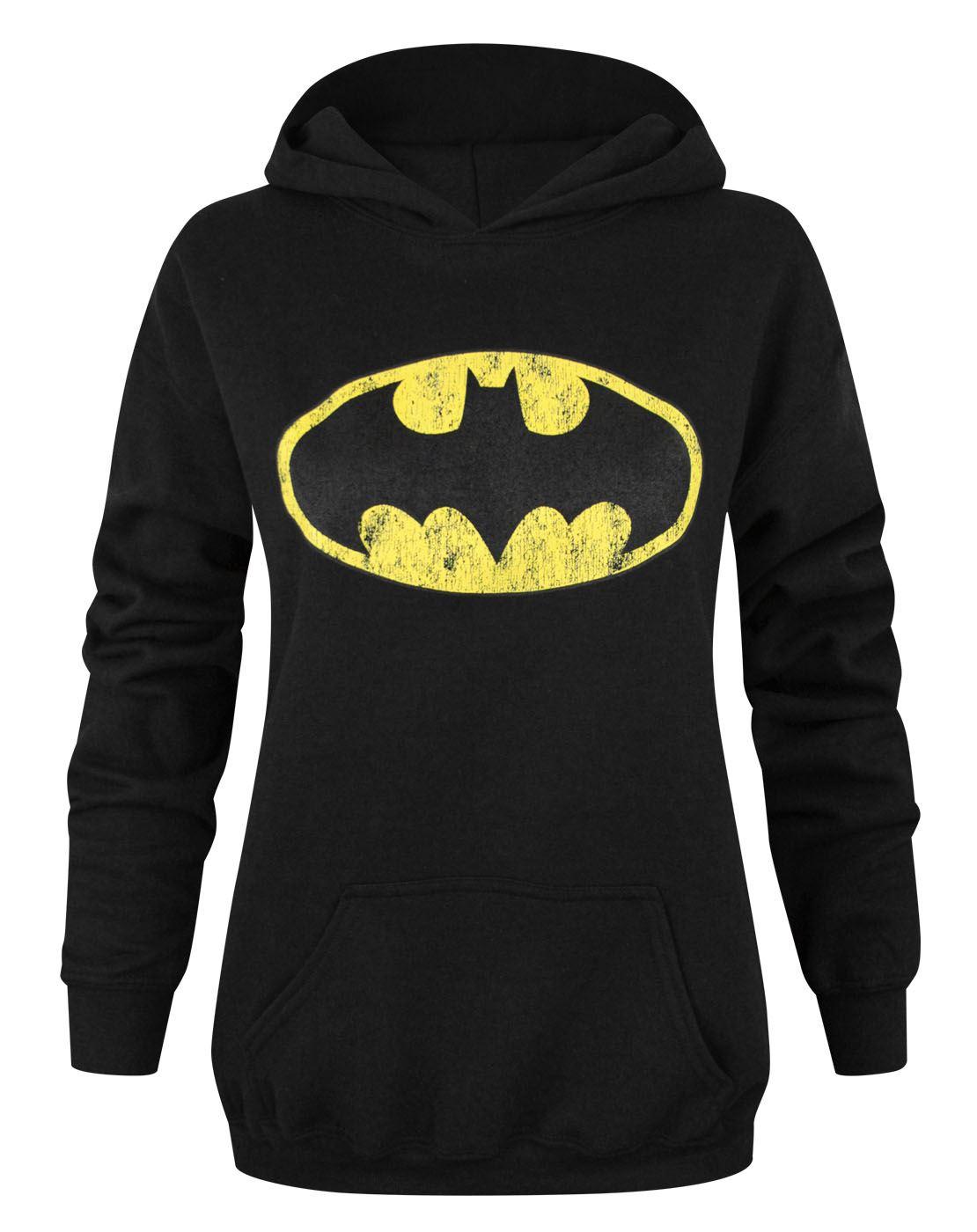 9a05cb2fcdc90 Batman Logo Distressed Sweat-shirt à capuche noir S M L XL XXL XXXL ...