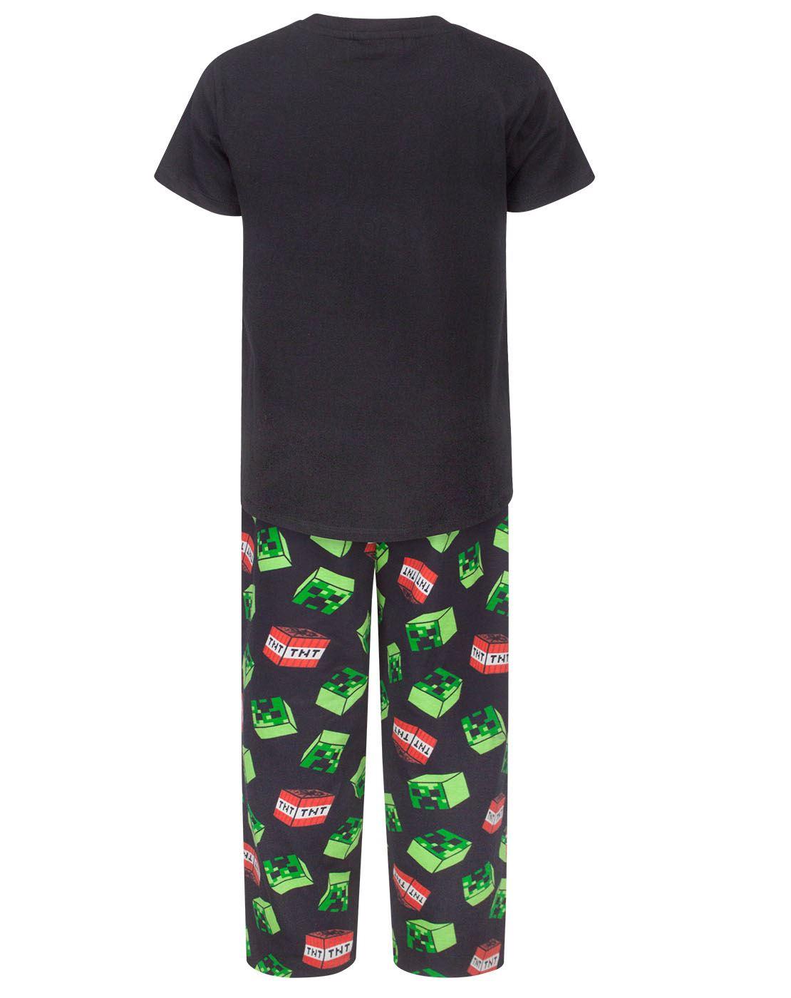 d75e065e8 Minecraft Creeper TNT Boy's Pyjamas UK Sizes 6 to 14 Years 3 3 of 9 ...