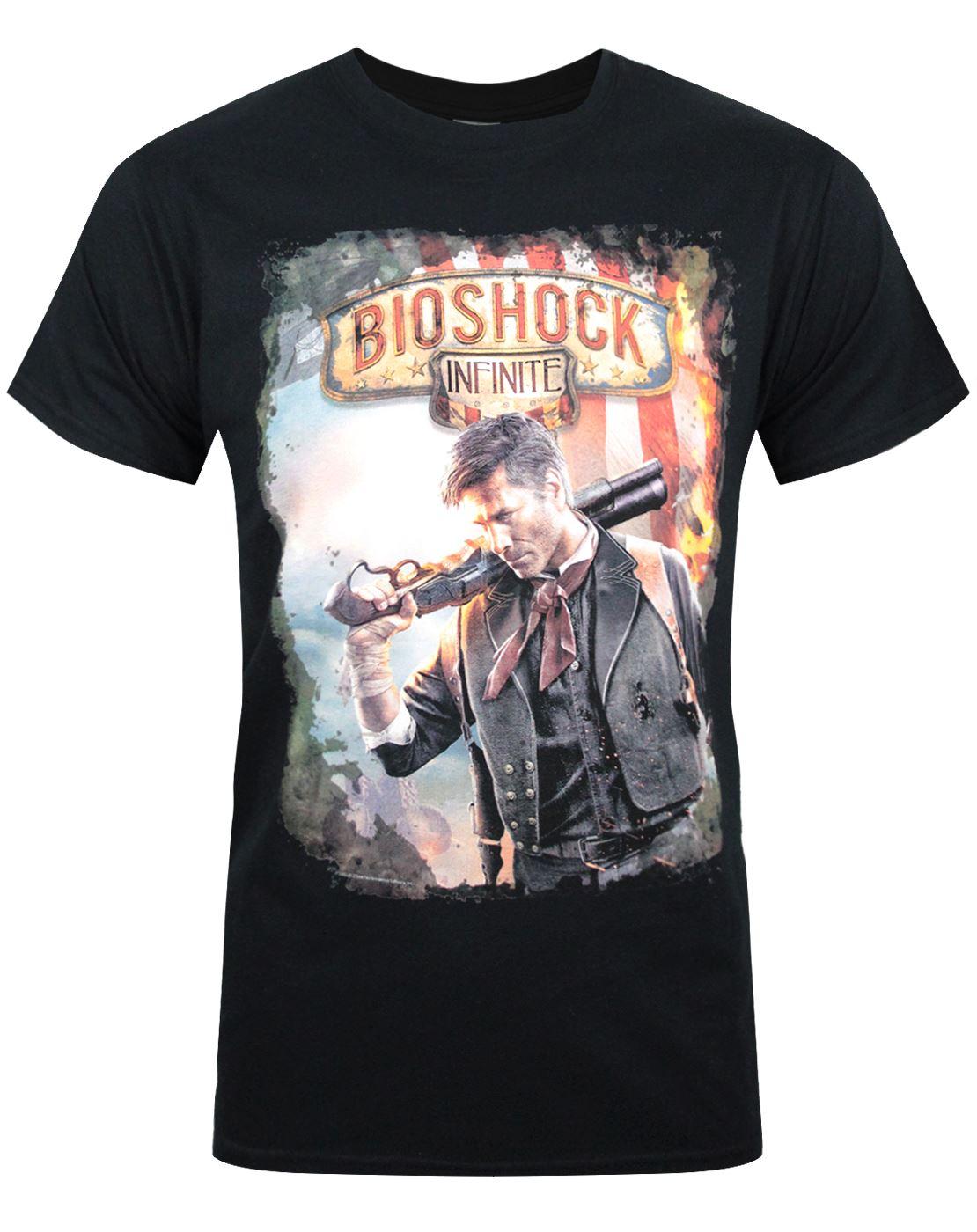 bioshock infinite poster men s black t shirt ebay