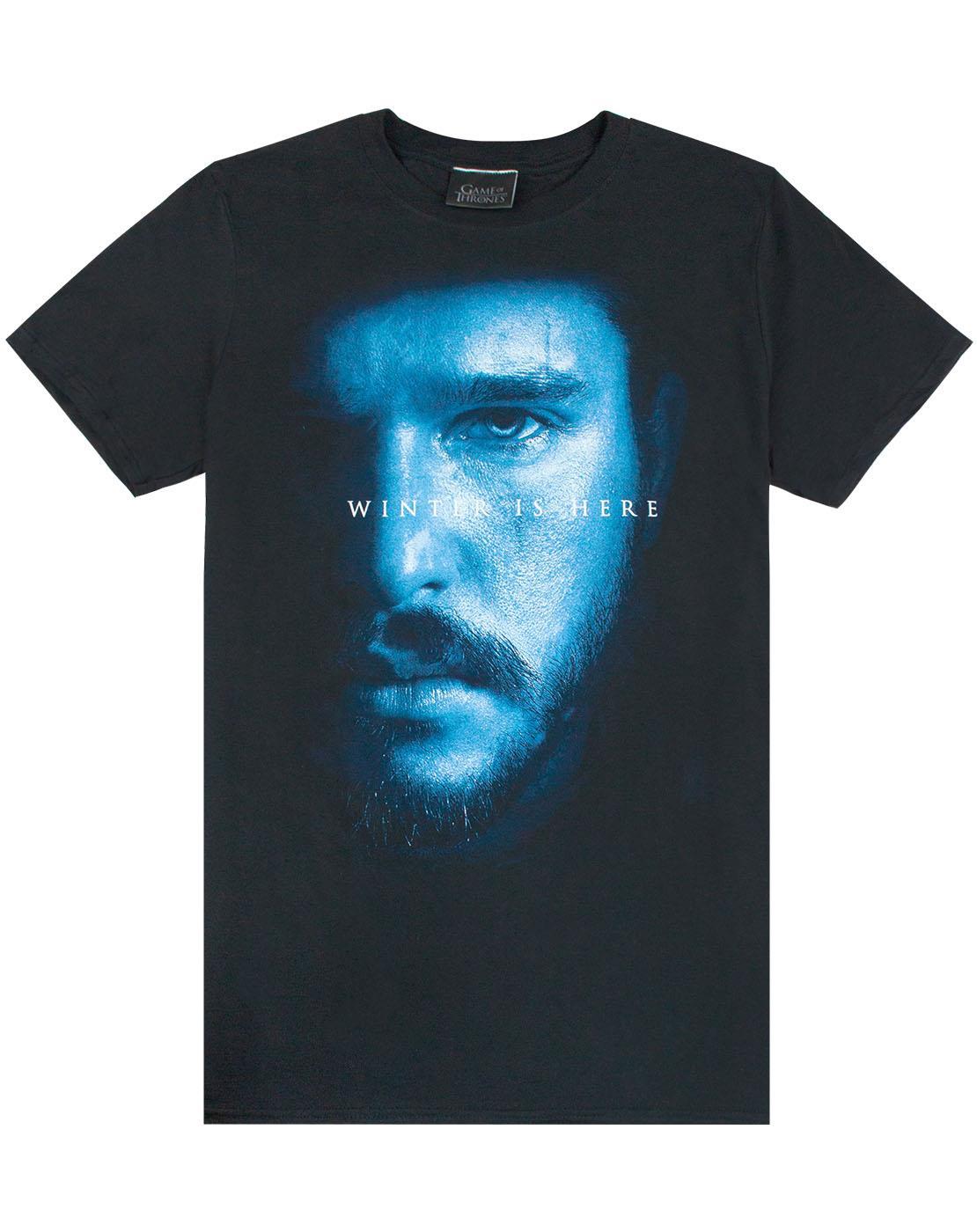 Detalhes Sobre Game Of Thrones Jon Snow O Inverno Chegou Noites Relogio Masculino T Shirt Mostrar Titulo No Original