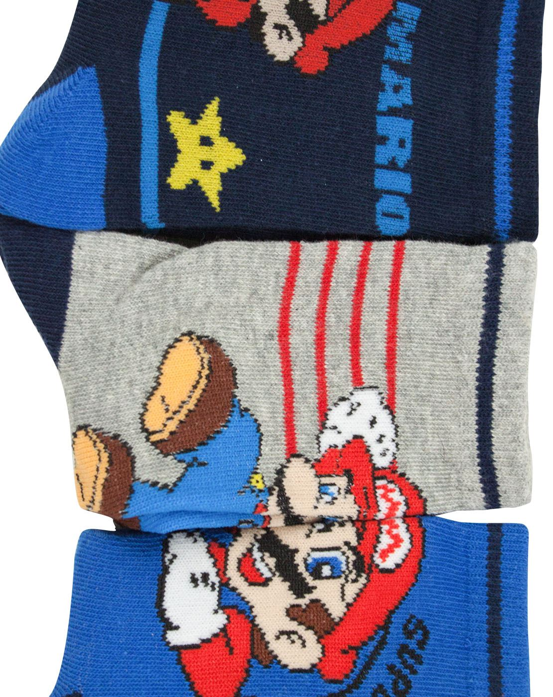 e7fb75805 Super Mario Boys Assorted 6 Pack Multi-coloured Sock Set | eBay