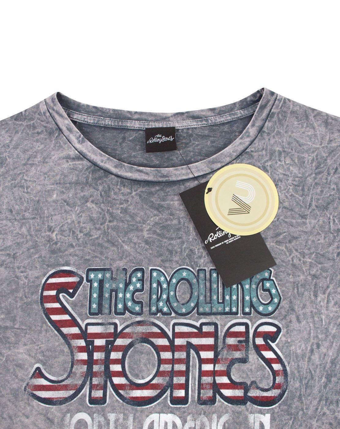 dbd91b3b The Rolling Stones 1981 Tour Logo Festival Women's Acid Wash T-Shirt ...