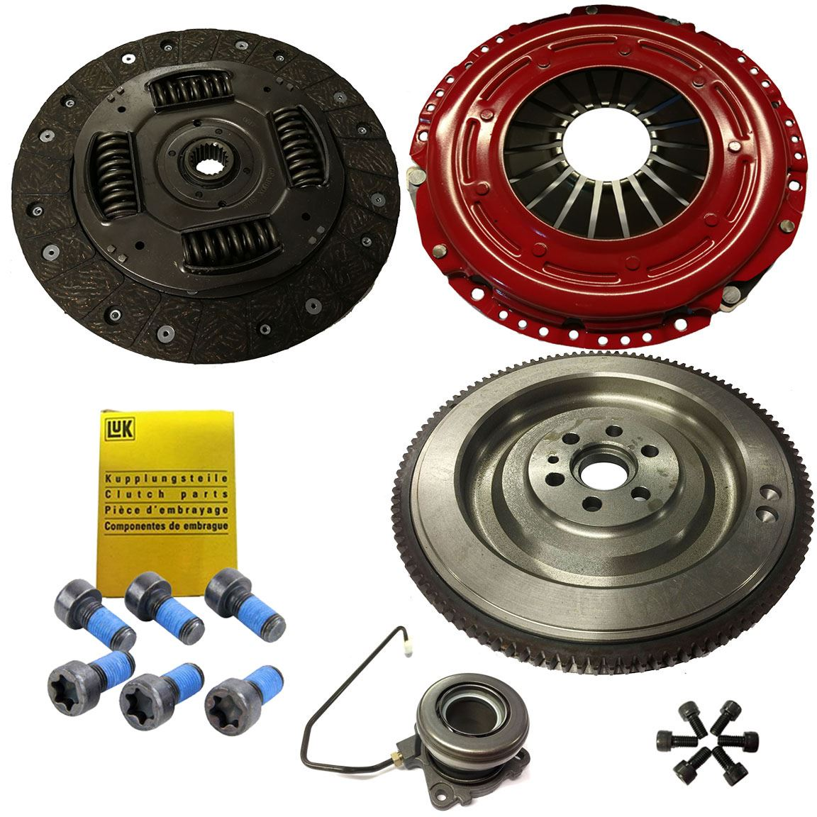 FLYWHEEL BOLTS AND CSC FOR OPEL VECTRA C GTS 1.9 CDTI CLUTCH KIT