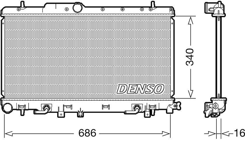 Denso Motor Radiador De Refrigeraci U00f3n Para Un Subaru Legacy Estate 2 5 115kw