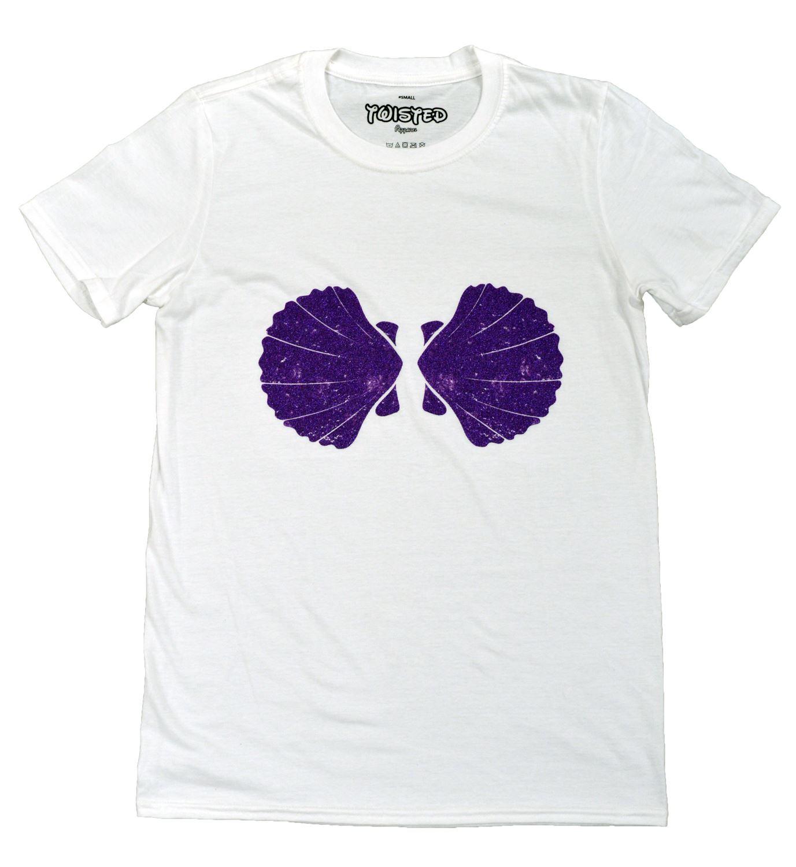 9f1476d366dc7 Twisted Mermaid Shell T Shirt Top Ariel Bikini Bra Emo Goth Punk Disney