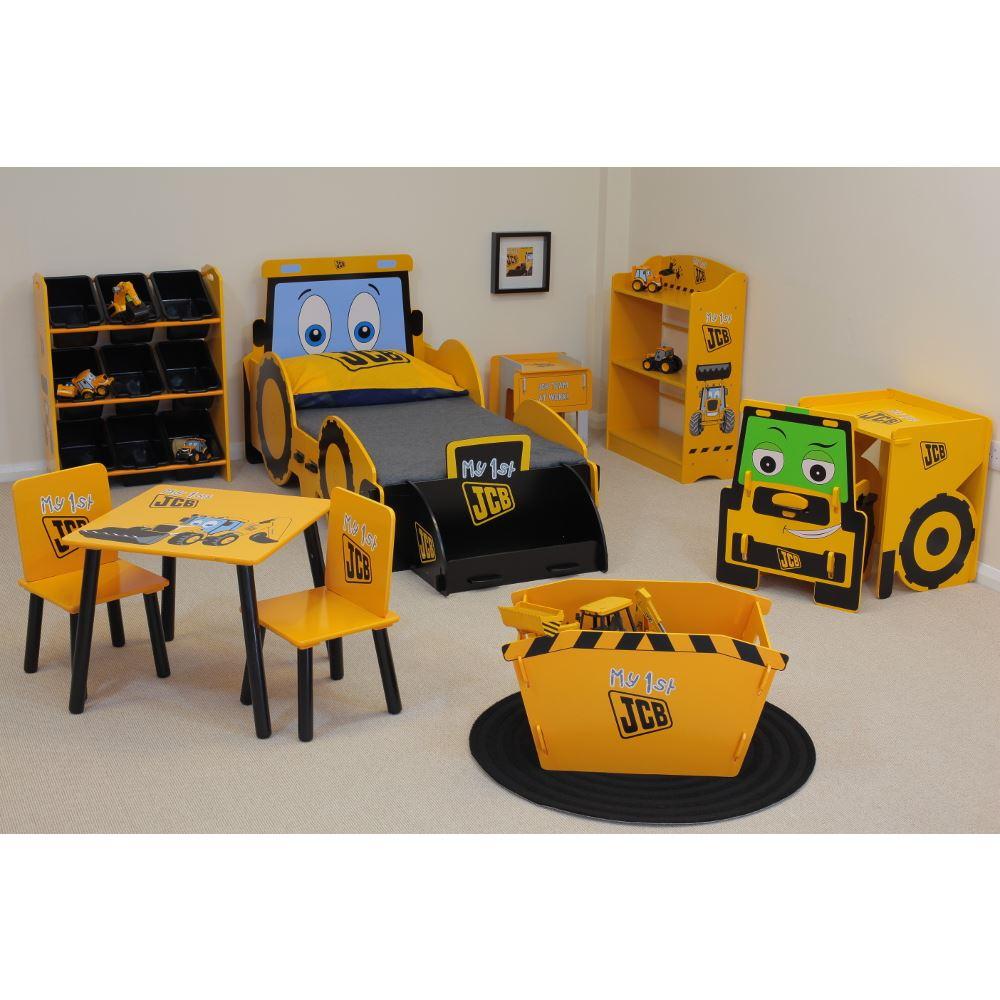 differently 13528 aefde Details about JCB Digger Kids Toddler Bed Bedroom Set inc Desk, Bedside,  Storage Bin