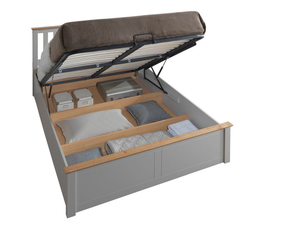 Happy Beds Phoenix Ottoman Storage Bed Wooden Modern Space