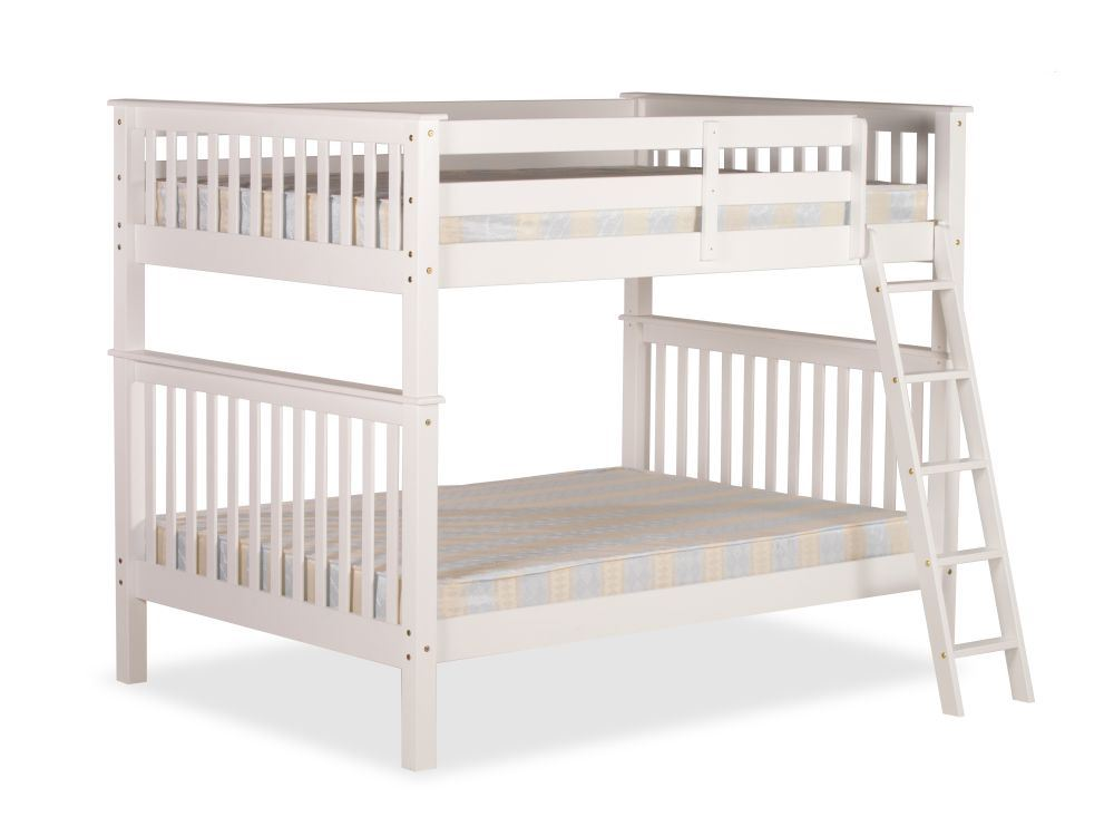 Malvern White Wood Quadruple Bunk Bed 4ft Small