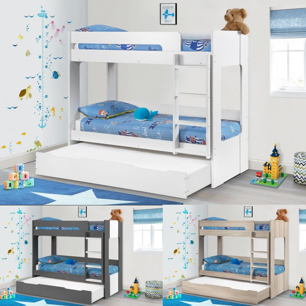 Ellie Wood Bunk Bed And Storage Drawer 3ft Single 4 Mattress 3