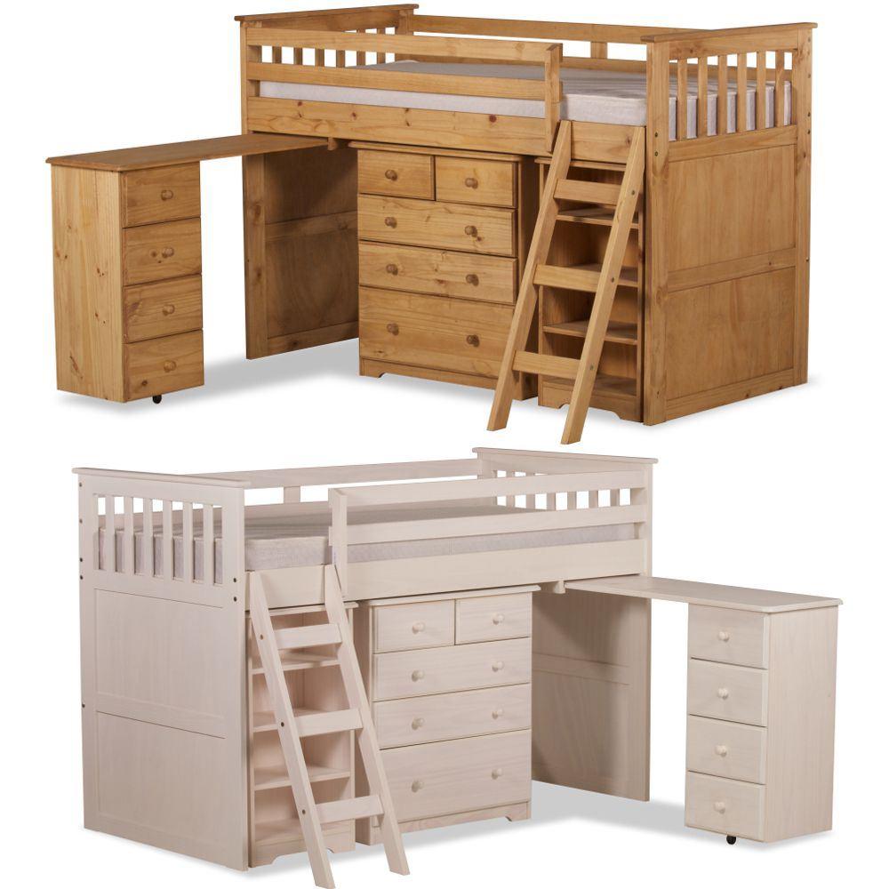 Ultimate Mid Sleeper Wooden Storage Bed Ebay