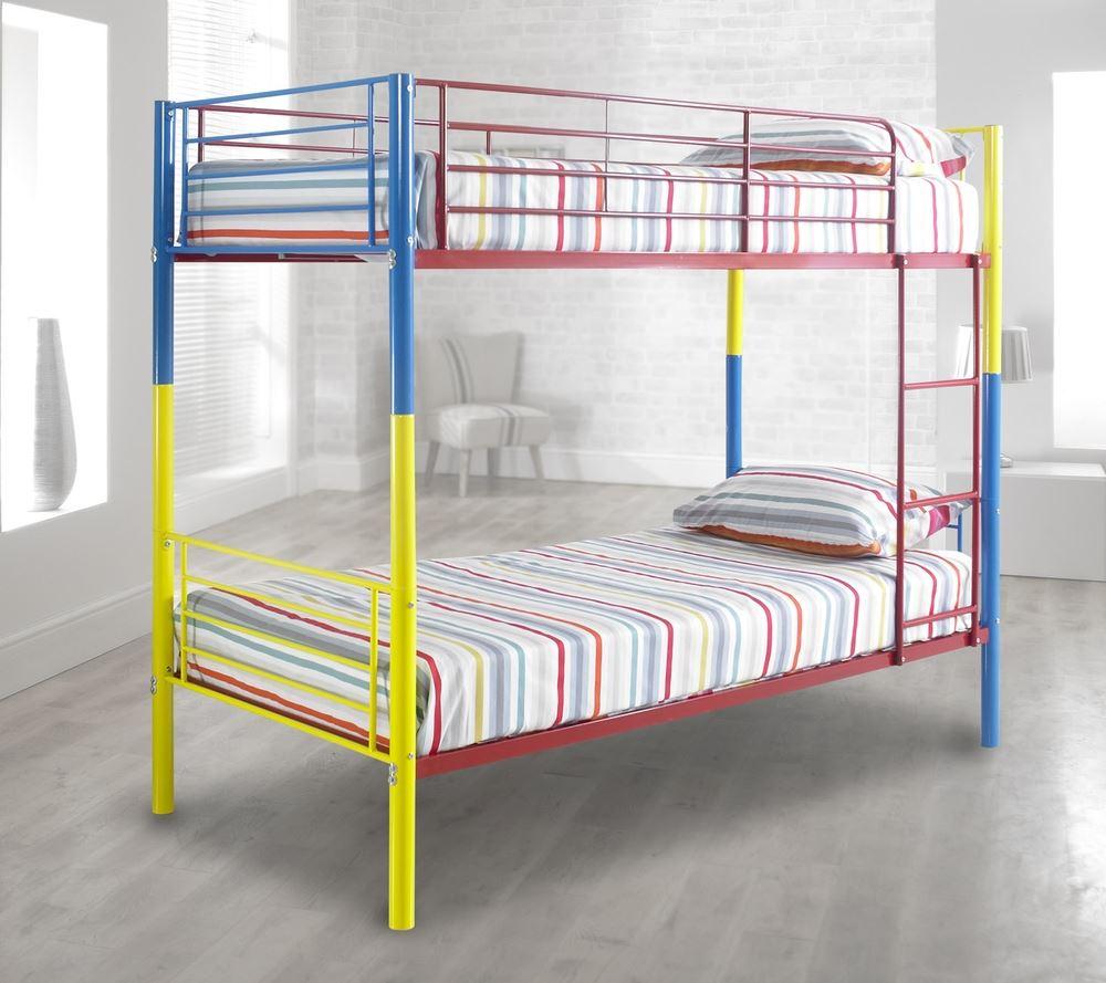 Happy Beds Rainbow Bunk Bed 3ft Metal Multi