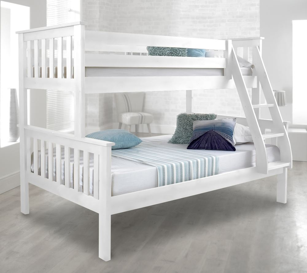 Atlantis Wood Triple Sleeper Bed 4ft Small Double Mattress and ...
