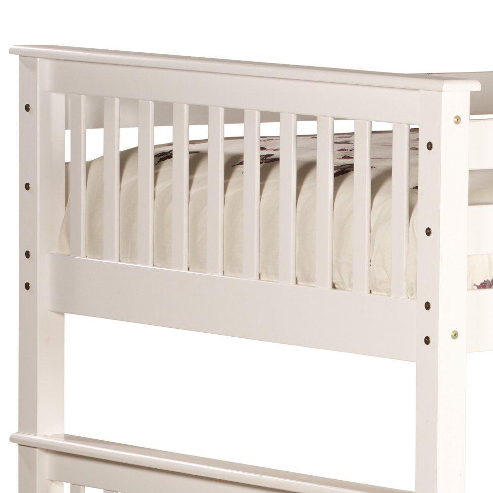 Malvern White Wood Quadruple Bunk Bed 4ft Small Double