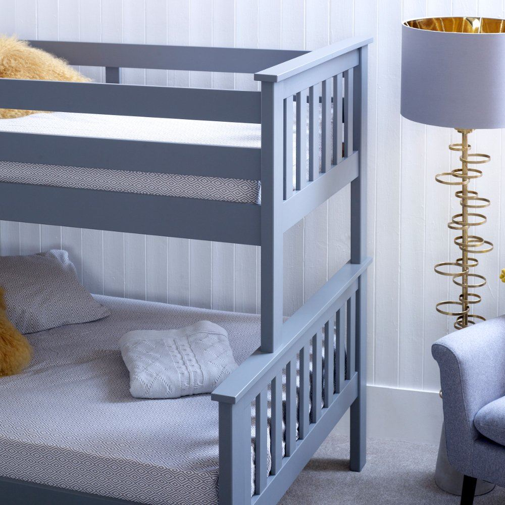 atlantis wood triple sleeper bed 4ft small double mattress and colour options ebay. Black Bedroom Furniture Sets. Home Design Ideas