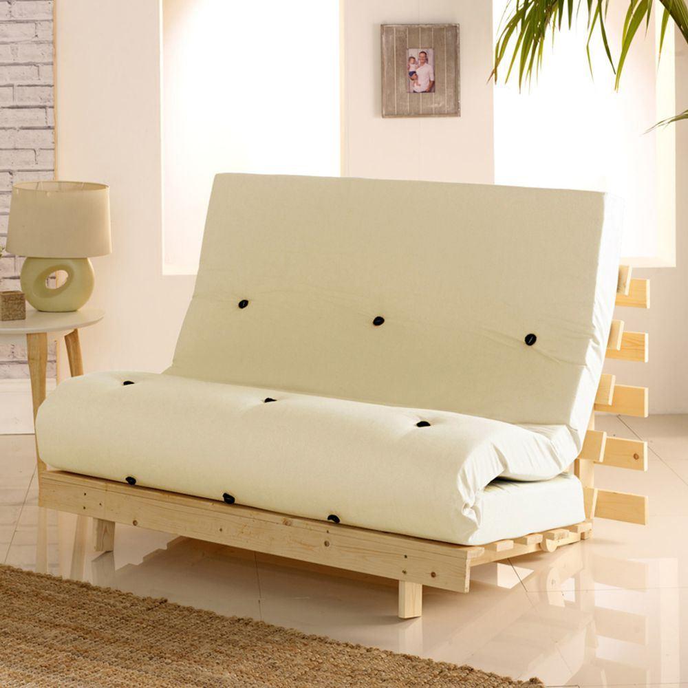 Futon Sofa Bed, Metro Solid Pine Small Single or Single ...