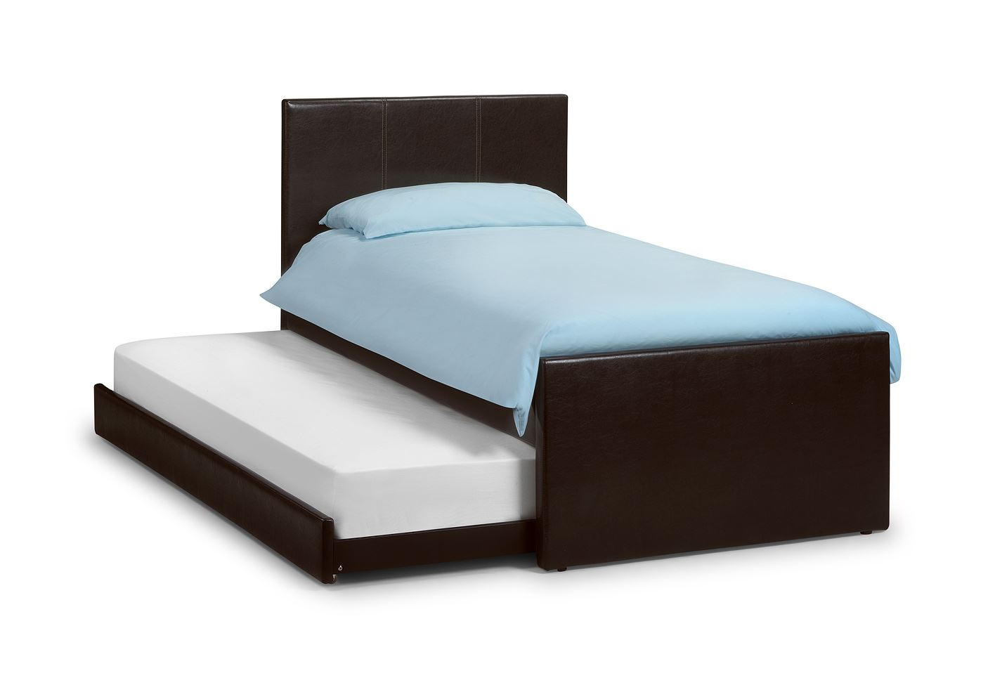 Black Leather Bed Frame King