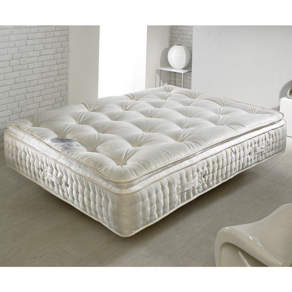 4ft6 double organic 2000 pocket sprung pillow top mattress. Black Bedroom Furniture Sets. Home Design Ideas