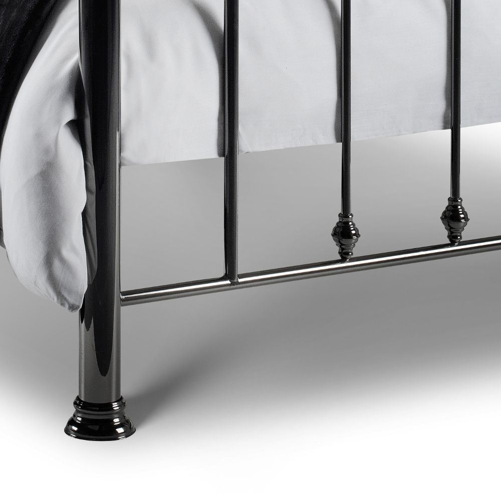Marquis Black Metal Bed 4ft6 Double Or 5ft King Size With 4 Mattress Manchester Steel Options