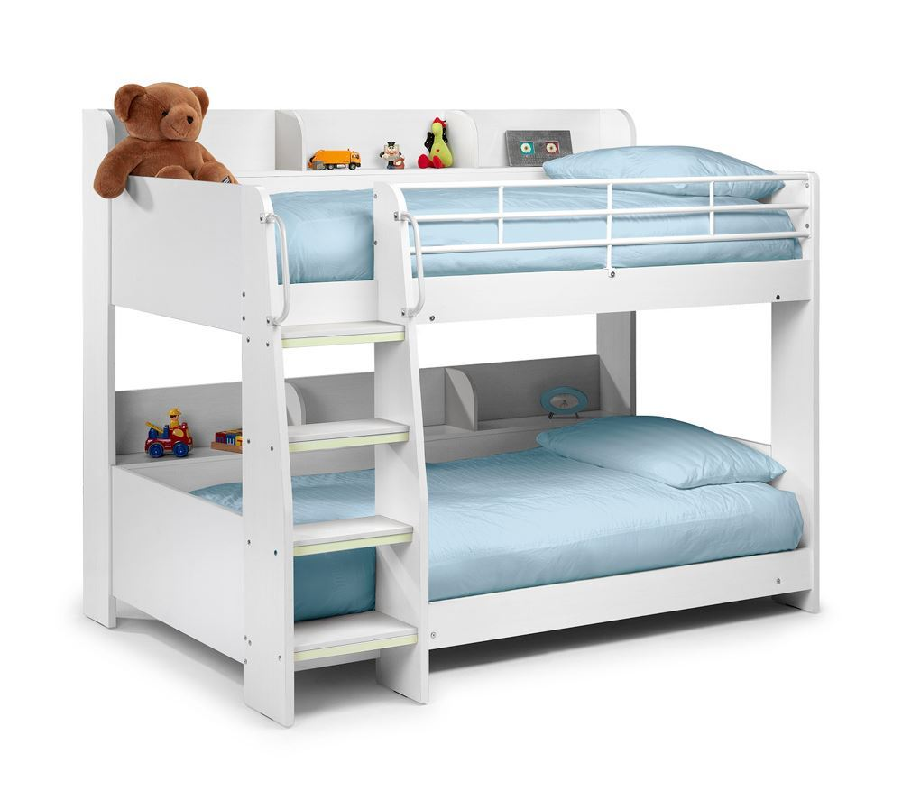 Happy Beds Domino Storage Wooden Bunk Bed Kids Modern Sleep