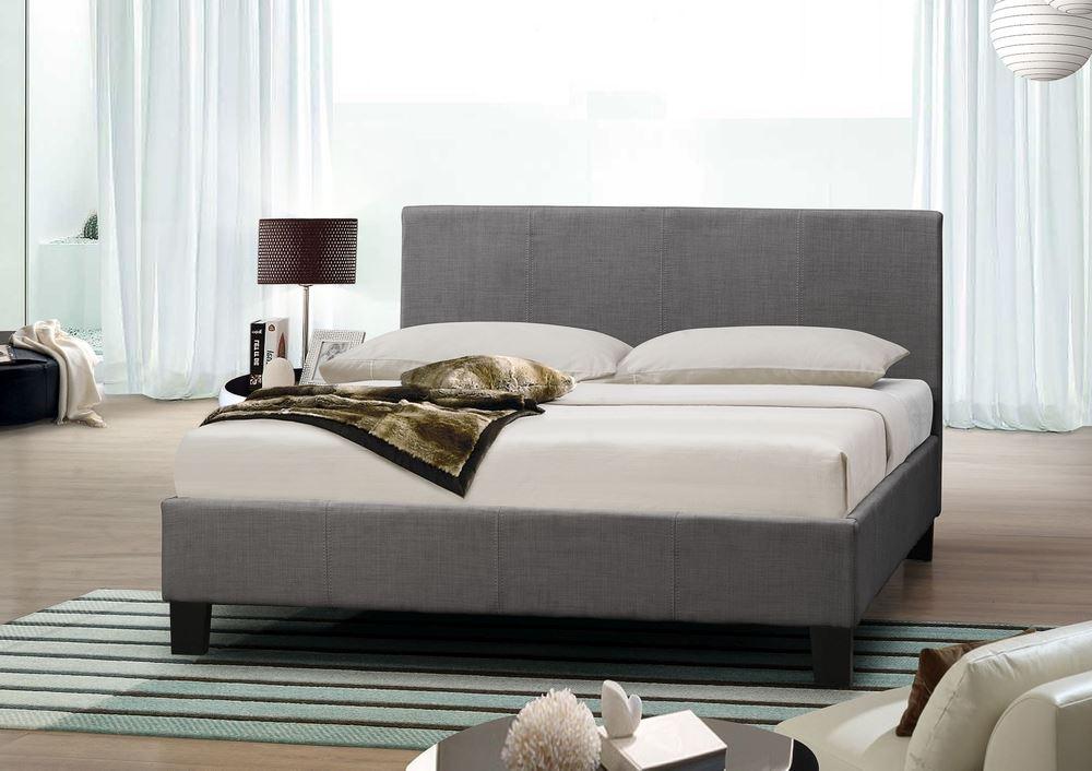 Happy Beds Berlin Fabric Bed Grey Modern Luxury Bedroom Mattresses ...