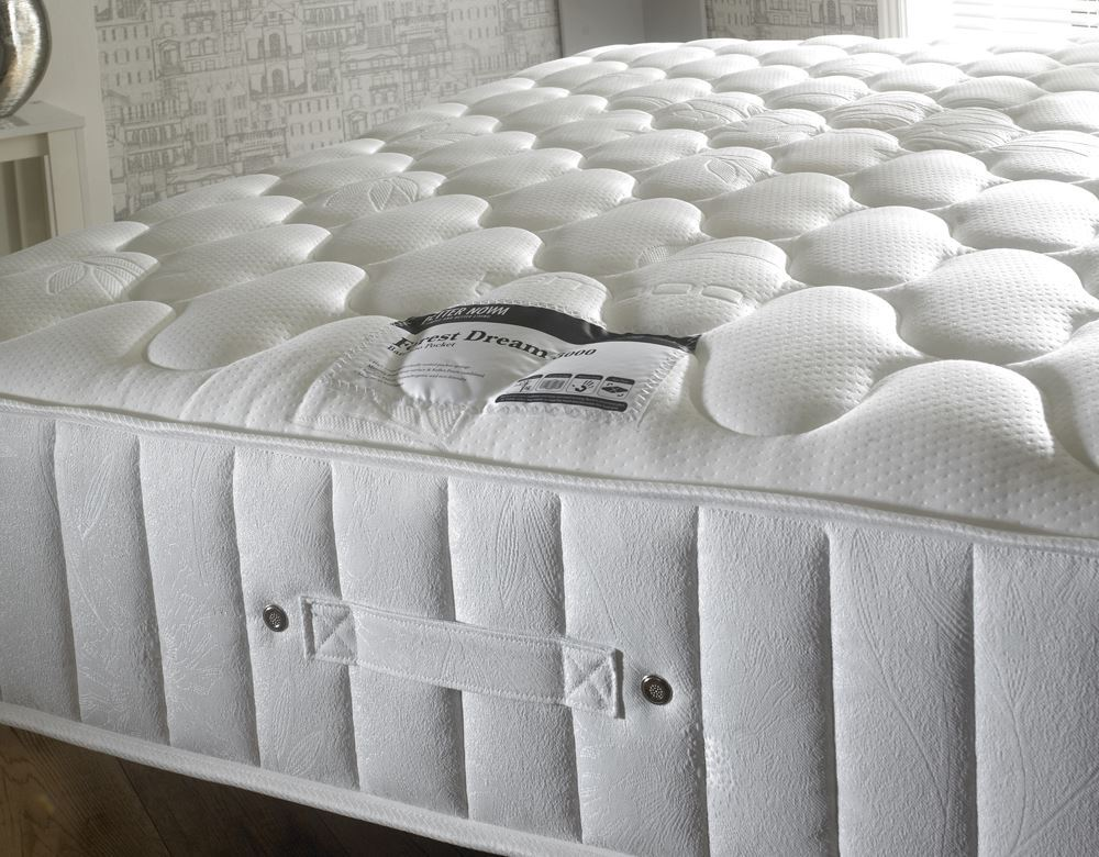 new products 90776 a61b5 Details about Happy Beds Forest Dream 3000 Pocket Sprung Memory Foam  Mattress Bamboo Yarn