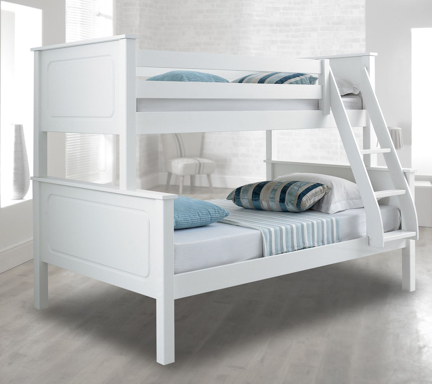 Vancouver Wood Triple Sleeper Bunk Bed 4ft Small Double Mattress Colour Options Ebay