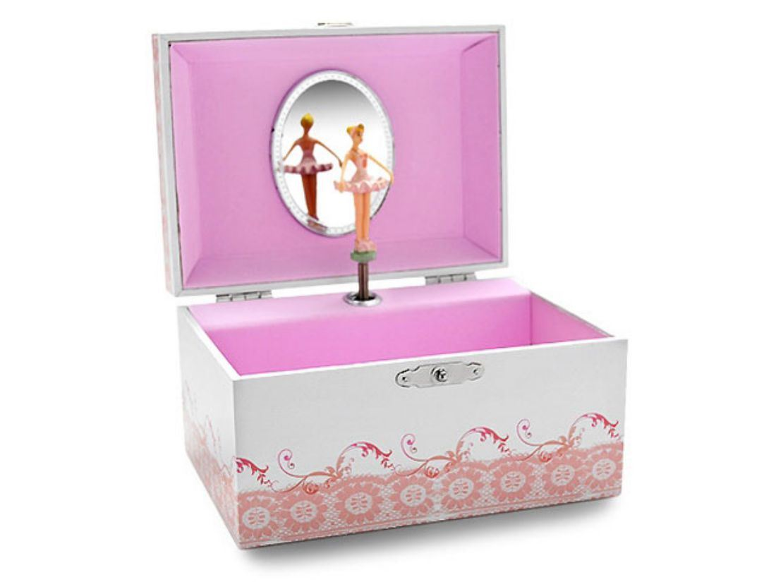 F.Hinds Childrens Kids Girls Pink Ballet Shoes Musical Jewellery Box ...