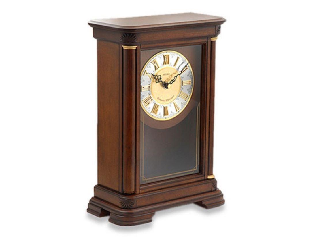 Seiko Chiming Pendulum Wooden Mantel Clock Ebay