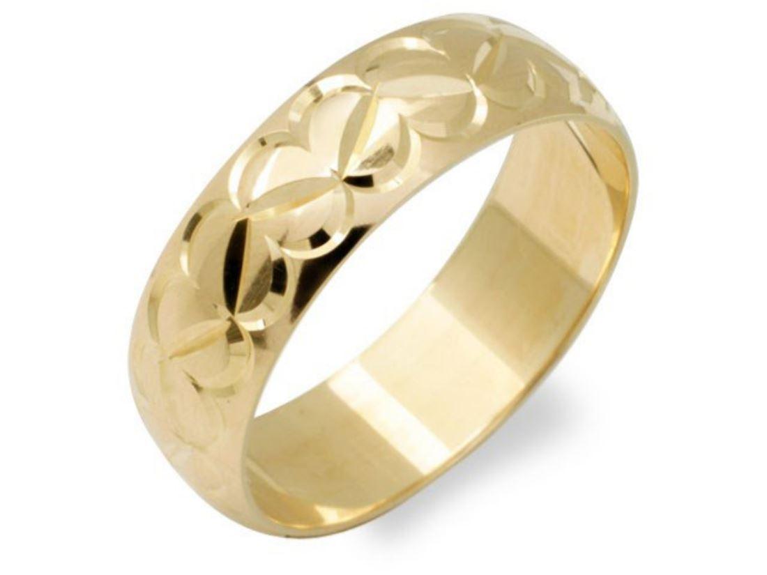 f hinds mens jewellery 9ct yellow gold diamond cut heart