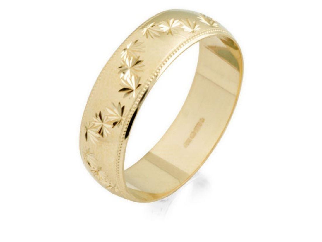 f hinds mens jewellery 9ct yellow gold diamond cut stars