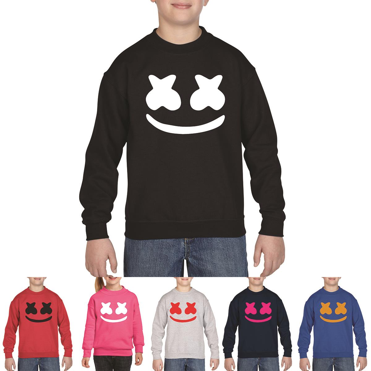 Marshmello Gaming Dance DJ Youtube EDM Festival Mask Youth Sweat Shirt Gift