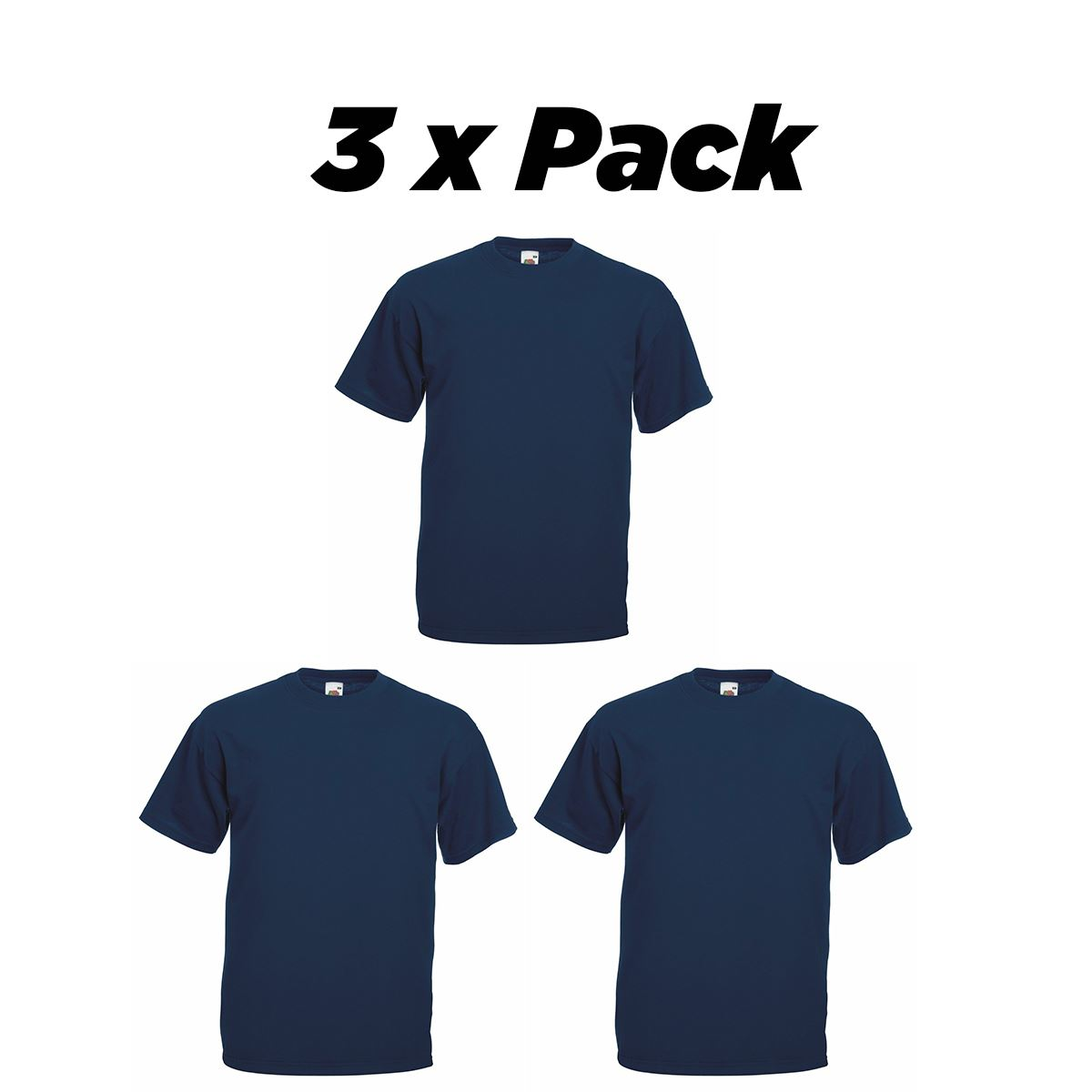5 Pack Men/'s Fruit of the Loom Plain 100/% Cotton T-Shirt