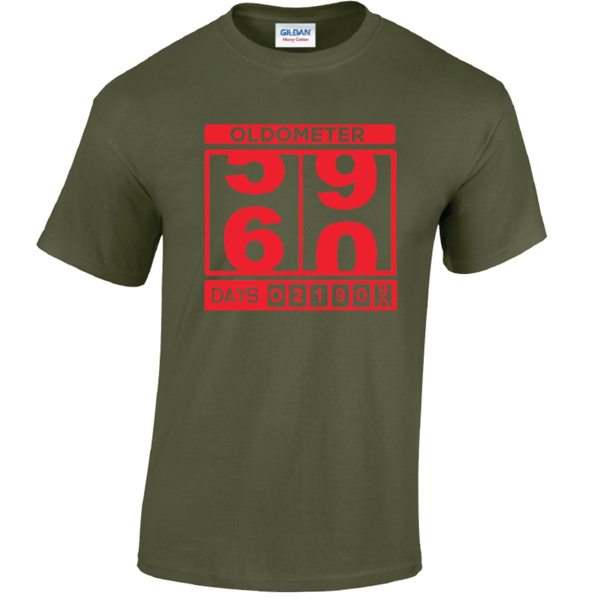 Oldometer 4950 Days Funny Novelty T-Shirt Mens tee TShirt