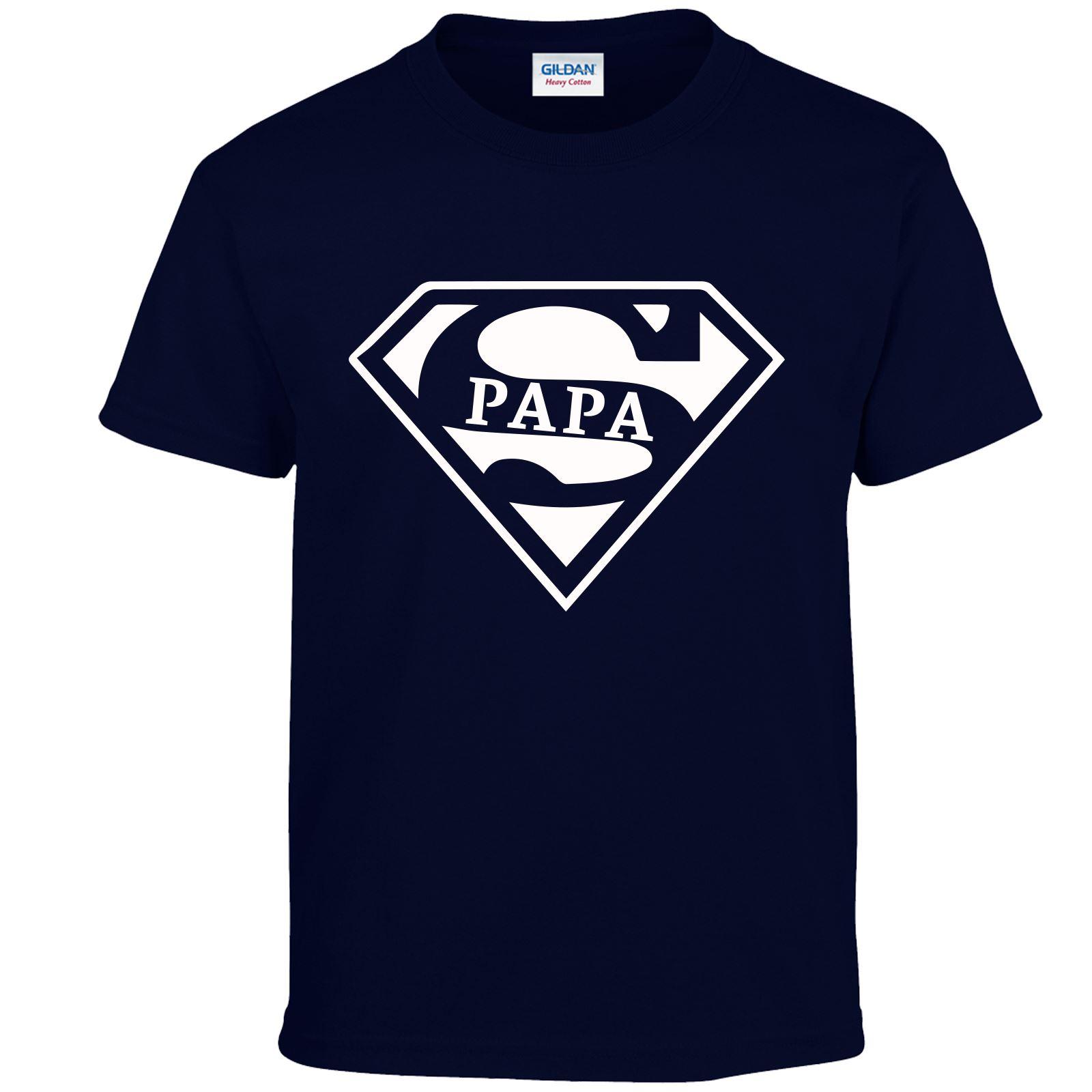 Super Papa Boys Girls T Shirt Standard Birthday Idea Gift Present Awesome Wear