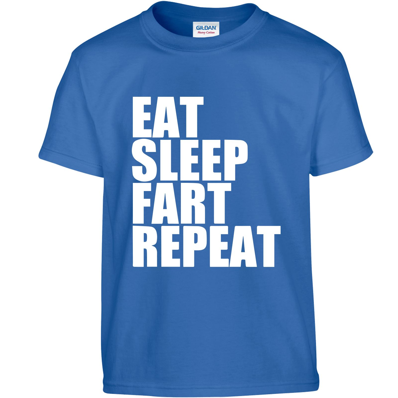 Eat Sleep Repeat Fart Men Children T Shirt Top Inspired Birthday Novelty T-Shirt