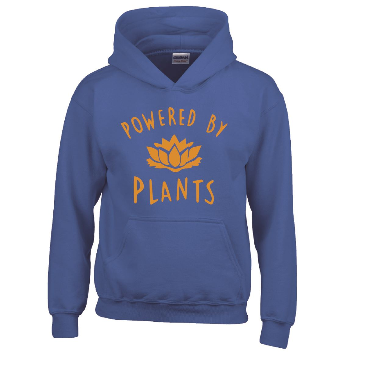 Plant Power Vegan Boys Girls Kids Childrens Hoodie