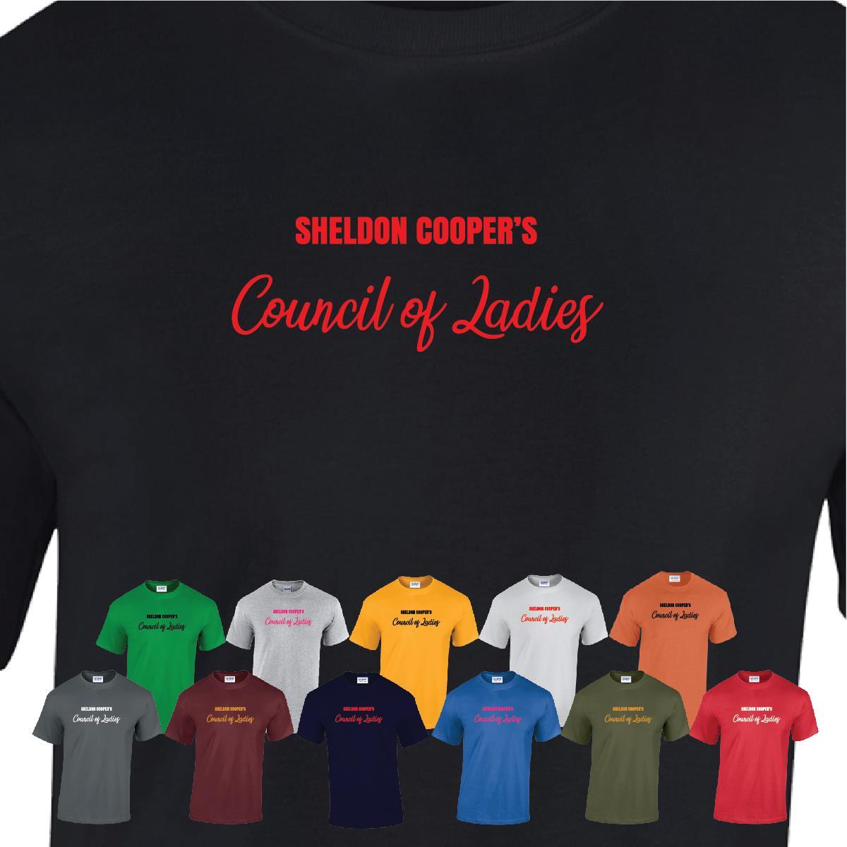 Big Bang Theory TV SHELDON COOPER/'S COUNCIL OF LADIES T-Shirt