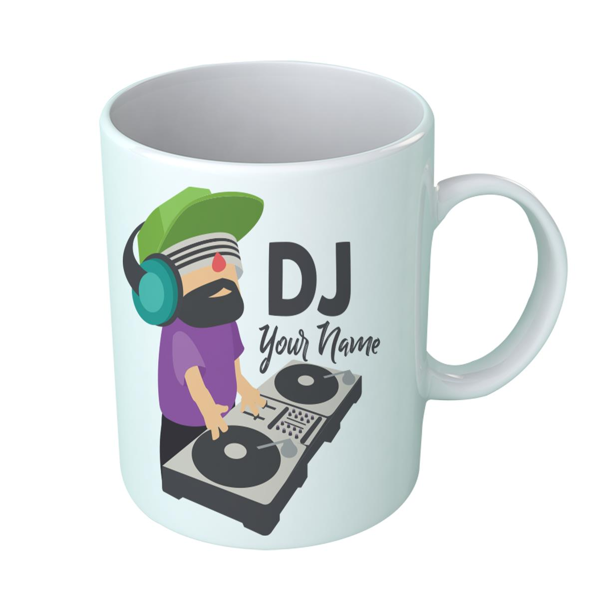 Dj Your Name Personalised Design Coffee Mug Rave Birthday Gift House Deejay Ebay