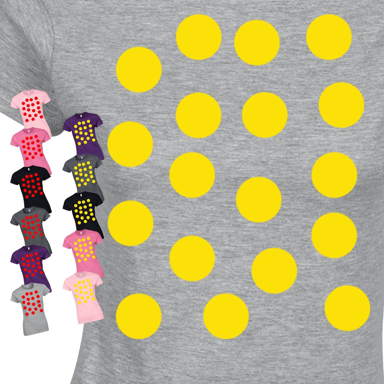 Polka Dots Spotty Day Costume Fancy Dress Present Top Inspired Women Tshirt
