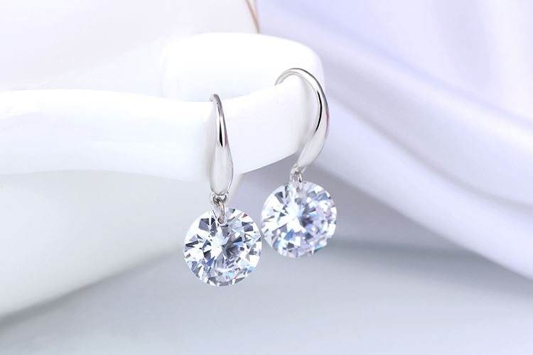 UK-Shop-925-SILVER-Plt-Grande-Goccia-Dangle-Earrings-Hoop-Gancio-Donna-Regalo miniatura 14