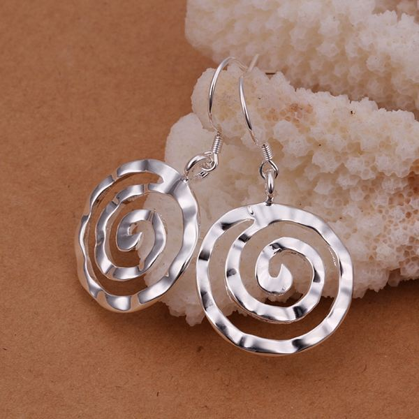 UK-Shop-925-SILVER-Plt-Grande-Goccia-Dangle-Earrings-Hoop-Gancio-Donna-Regalo miniatura 46