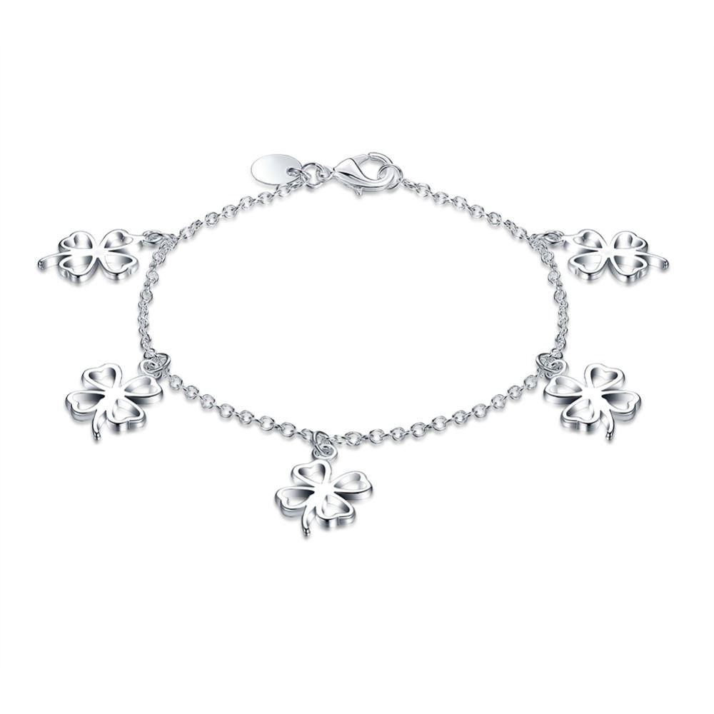 UK-Shop-925-Argento-Bracciale-catena-PLT-Braccialetto-Cavigliera-collegamento-solido-Bracciale-Charm miniatura 7