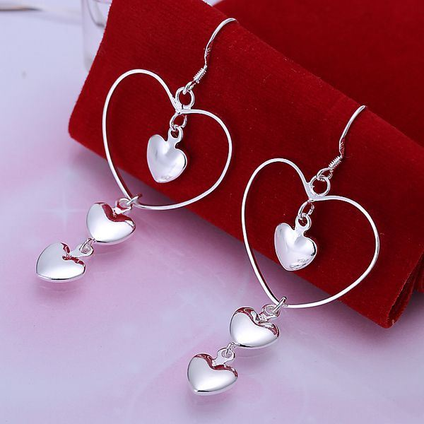 UK-Shop-925-SILVER-Plt-Grande-Goccia-Dangle-Earrings-Hoop-Gancio-Donna-Regalo miniatura 16