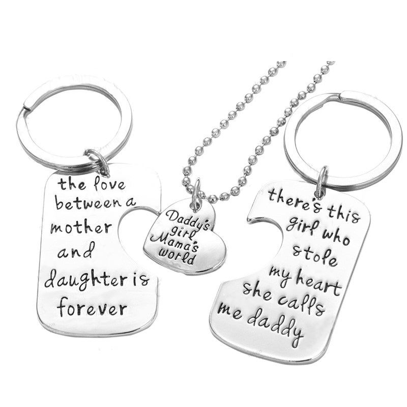 UK-Shop-925-SILVER-PLT-039-DADDY-039-S-GIRL-MAMA-039-S-WORLD-039-STOLE-MY-HEART-LOVE-FOREVER thumbnail 4