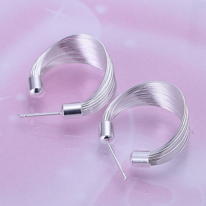 UK-Shop-925-SILVER-Plt-Grande-Goccia-Dangle-Earrings-Hoop-Gancio-Donna-Regalo miniatura 49