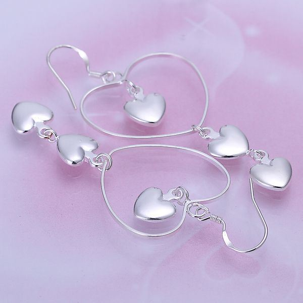 UK-Shop-925-SILVER-Plt-Grande-Goccia-Dangle-Earrings-Hoop-Gancio-Donna-Regalo miniatura 17