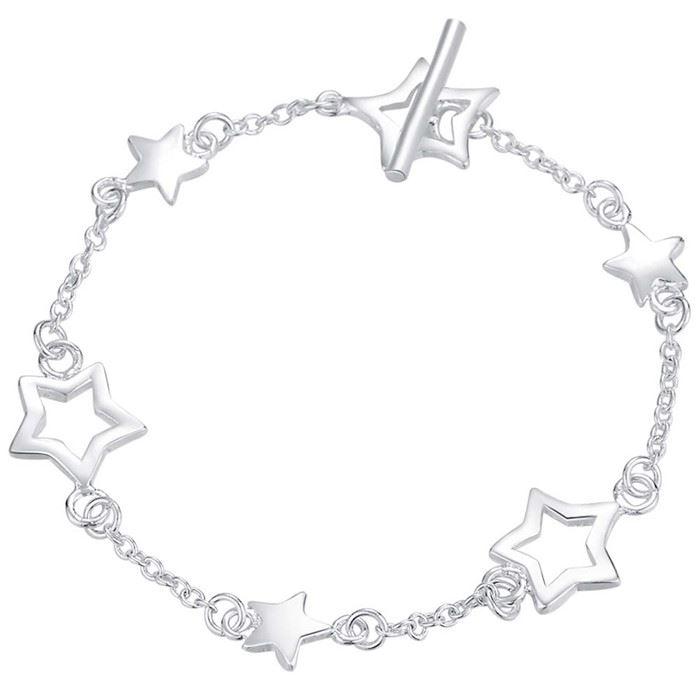 UK-Shop-925-Argento-Bracciale-catena-PLT-Braccialetto-Cavigliera-collegamento-solido-Bracciale-Charm miniatura 26