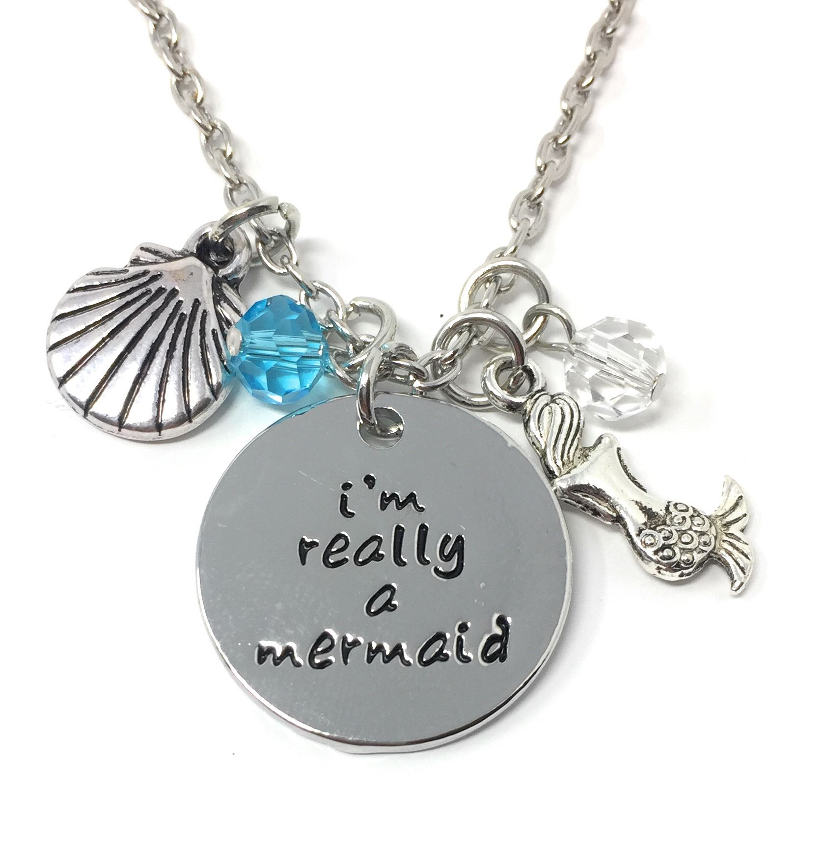 """*UK Shop* SILVER PLT ENGRAVED PENDANT CHARM MOVIE NECKLACES 18/"""" LADIES GIFT GIRL"""