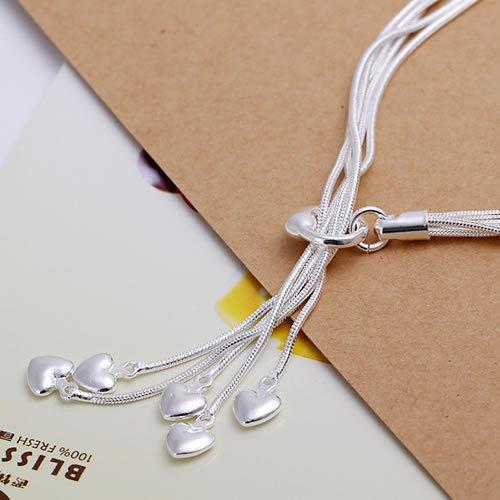 UK-Shop-925-Argento-Bracciale-catena-PLT-Braccialetto-Cavigliera-collegamento-solido-Bracciale-Charm miniatura 28