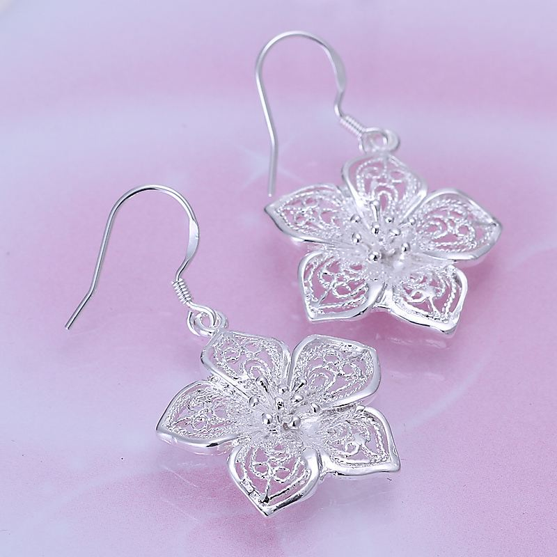 UK-Shop-925-STERLING-SILVER-PLT-LONG-DROP-DANGLE-HANGING-HOOK-EARRINGS-LARGE thumbnail 46